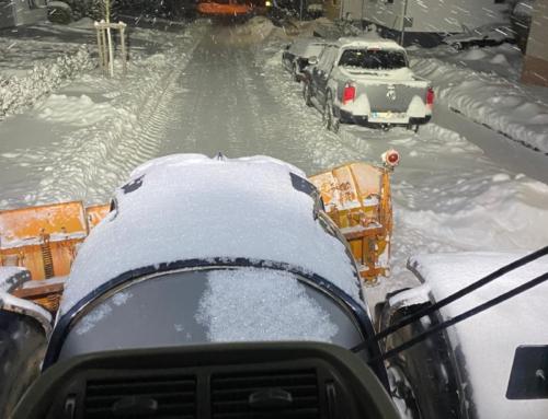 Wintereinbruch – Mingeröder Landwirte helfen bei der Beseitigung der Schneemassen