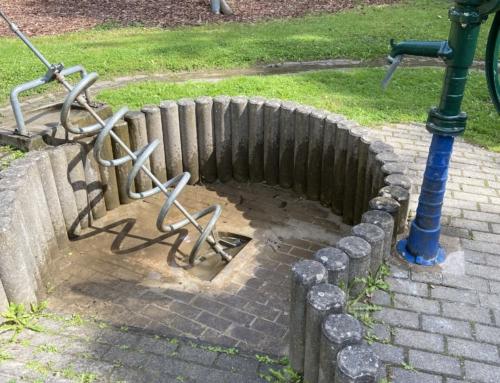 Pumpe am Wasserspielplatz tut endlich wieder was sie soll